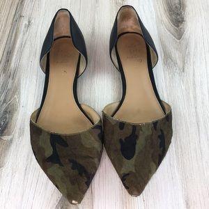 Army Camo Pointy Toe Flats